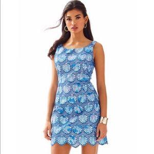 Lilly Pulitzer Blue Scallop Shift Dress